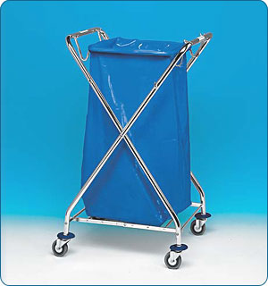 310741 Trolley for paper waste zinc